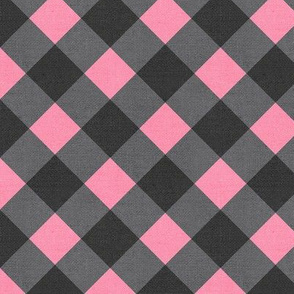 Sleepy Series Pink Gingham Dark Large