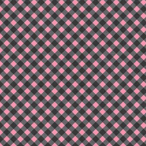 Sleepy Series Pink Gingham Dark Ditsy