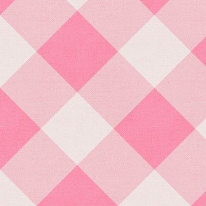 Sleepy Series Pink Gingham Mid-tone Jumbo