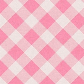Sleepy Series Pink Gingham Mid-tone Large