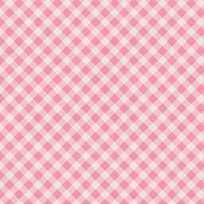 Sleepy Series Pink Gingham Mid-tone Ditsy