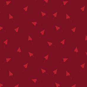 flying aeroplane red pattern