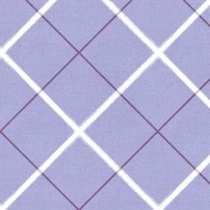 Sleepy Series Lavender Tattersall Mid-tone Jumbo