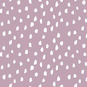 medium // scattered marks white on dawn pink pantone mauve