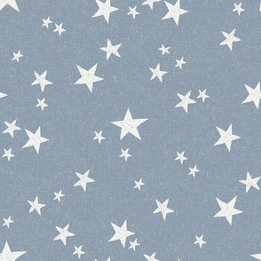 nursery stars fabric - denim sfx4013 - star fabric, stars fabric, kids fabric, bedding fabric, nursery fabric - terracotta trend