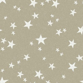 nursery stars fabric - eucalyptus sfx0513 - star fabric, stars fabric, kids fabric, bedding fabric, nursery fabric - terracotta trend
