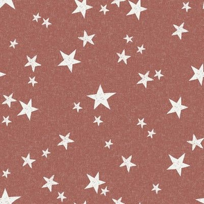 nursery stars fabric - redwood sfx1443 - star fabric, stars fabric, kids fabric, bedding fabric, nursery fabric - terracotta trend