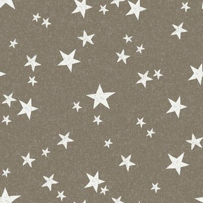 nursery stars fabric - fossil sfx1110 - star fabric, stars fabric, kids fabric, bedding fabric, nursery fabric - terracotta trend