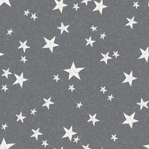 nursery stars fabric - steel sfx4005 - star fabric, stars fabric, kids fabric, bedding fabric, nursery fabric - terracotta trend