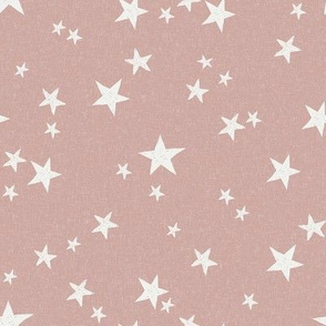 nursery stars fabric - rose sfx1512 - star fabric, stars fabric, kids fabric, bedding fabric, nursery fabric - terracotta trend