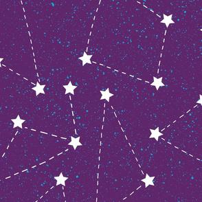 Aurora Cosmos Purple-Large Scale