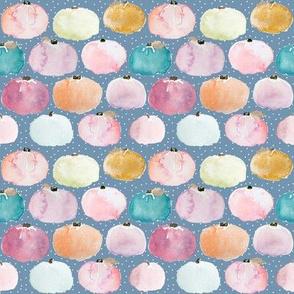 Indy Bloom Pastel Pumpkin Polka Purple 4x4