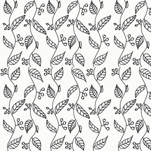 Tendrill Pattern Black and White