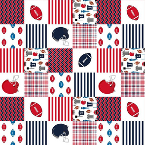 """ole miss quilt 3"""" squares - sport, sports, college football, football fabric"""