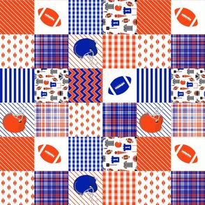 "florida quilt 3"" squares - patchwork, quilt, football, college football, sport, sports, sec"