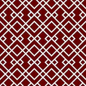 miss state trellis fabric - maroon stripes, maroon trellis pattern