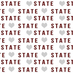 miss state fabric - state fabric, maroon and grey, college, college sports