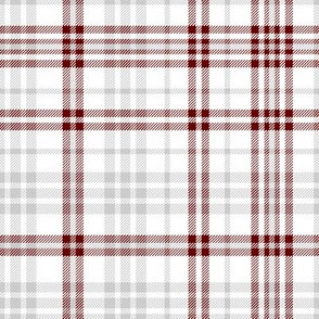 miss state plaid fabric  - maroon and grey fabric, plaid fabric, check fabric