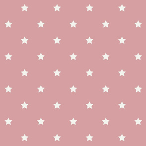White Star Pink ground