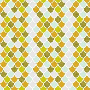 """3/4"""" golden mermaid scales + 2-8 linen"""