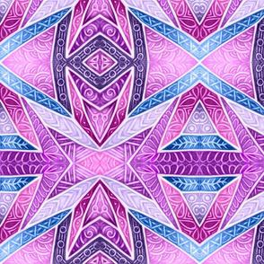 Glazed Whitework--purples