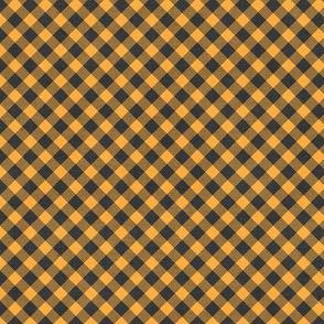 Sleepy Series Yellow Gingham Dark Ditsy