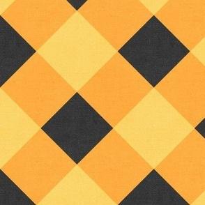 Sleepy Series Yellow Gingham Mid-tone Jumbo