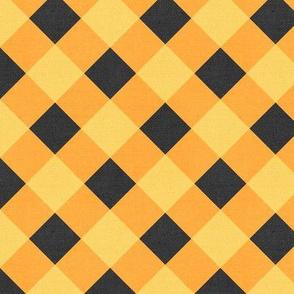 Sleepy Series Yellow Gingham Mid-tone Large
