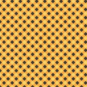 Sleepy Series Yellow Gingham Mid-tone Ditsy