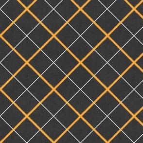 Sleepy Series Yellow Tattersall Dark Large