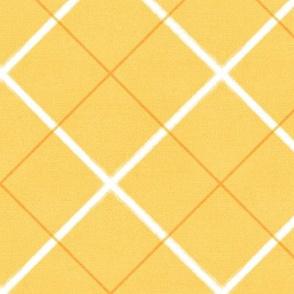 Sleepy Series Yellow Tattersall Mid-tone Jumbo