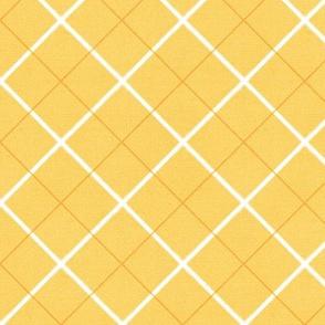 Sleepy Series Yellow Tattersall Mid-tone Large