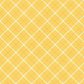 Sleepy Series Yellow Tattersall Mid-tone