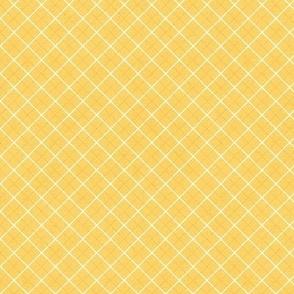 Sleepy Series Yellow Tattersall Mid-tone Ditsy