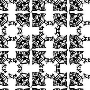 birds eye view birdy tile black and white