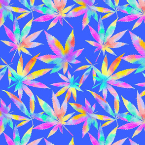 Mary Jane Tropical Watercolor Blue