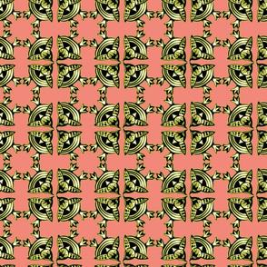 birds eye view birdy tile salmon