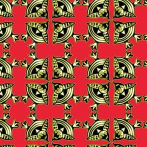 birds eye view birdy tile red