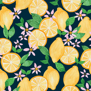 Lemons Dark Ground (Larger Scale)