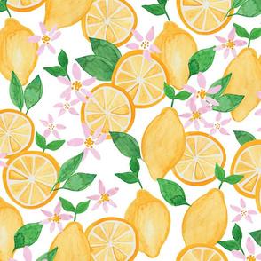 Lemons White Ground (Larger Scale)