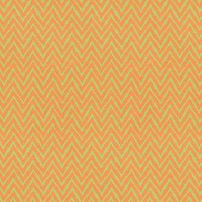 Sleepy Series Jungle Chevron Orange Green