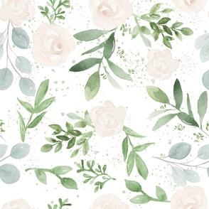 Floral Watercolor Nursery Wallpaper