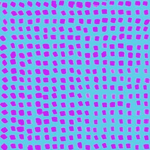 Dots Blue and Fuchsia