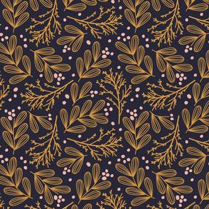 mistletoe and evergreen