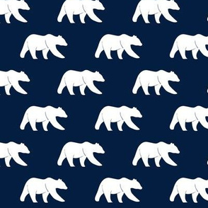 (med scale) bear on navy || the bear creek collection  C19BS