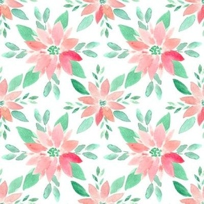 Sweet Pink Poinsettas - SMALL