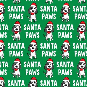 (small scale) Santa Paws - Christmas dog - green - LAD19