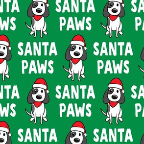 Santa Paws - Christmas dog - green - LAD19