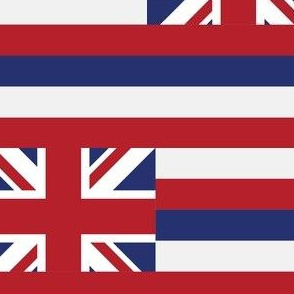 Hawaii State Flag Pattern