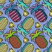 Tropical Pineapple colorful colored